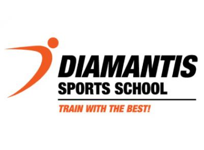 DIAMANTIS SPORTS SCHOOL TRAIN WITH THE BEST! Logo